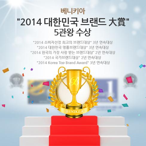 2014년 대한민국 브랜드대상 5관왕 수상