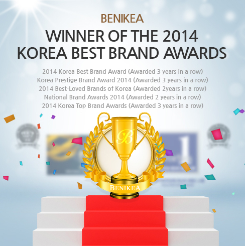 BENIKEA, WINNER OF THE 2014 KOREA BEST BRAND AWARD